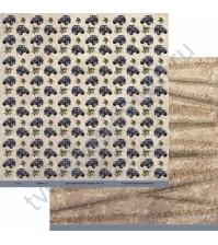 Бумага для скрапбукинга двусторонняя коллекция Мужское дело, 30.5х30.5 см, 190 гр/м, лист Бездорожье