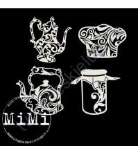 Чипборд Набор Чайники, коллекция Кулинария, 10х7.5 см