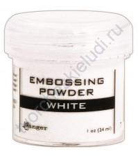 Пудра для эмбоссинга, емкость 30 мл, цвет белый