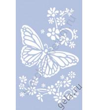Трафарет Бабочка и цветы 66х40 см