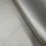 Кожзам с фактурой на тканевой основе плотность 360 гр/м2, 50х70 см, цвет серебро
