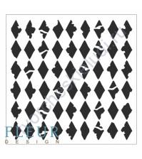 Трафарет пластиковый многоразовый Ромбы, 15.5х15.5 см, толщина 0.5 мм