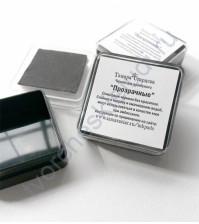 Штемпельная подушечка с прозрачными чернилами (клеем) для эмбоссинга, 3х3 см