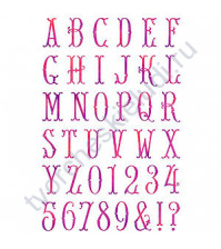 Набор штампов Alphabet, 39 элементов, размер набора 12х18 см