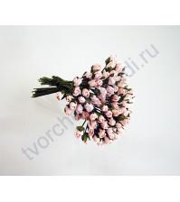 Бутоны роз маленькие 5 шт, цвет св. персиковый