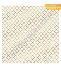 Бумага для скрапбукинга односторонняя с фольгированием золотом 30.5х30.5 см, 180 гр/м2, лист Восток