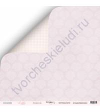 Бумага для скрапбукинга двусторонняя 30.5х30.5 см, 190 гр/м, коллекция Little Bunny, лист Лиловые сны