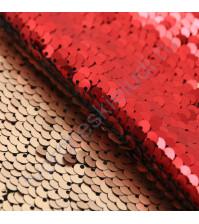 Декоративный материал Перевертыш из пайеток, плотность 420 гр/м2, размер 33х33 см, цвет матовый бордово-бежевый