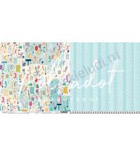 Бумага для скрапбукинга двусторонняя 30.5х30.5 см, 190 гр/м, коллекция В детском мире, лист В детском мире