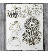 Набор чипборда Мечты, коллекция Этника. Детская, размер 11.5х16.5 см
