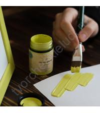 Краска акриловая Tury Design Di-7 на водной основе, флакон 60 гр, цвет Зеленый виноград