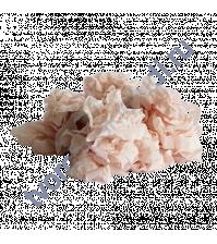 Шебби-лента мятая, Розово-персиковый, ширина 14мм, 1 метр