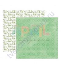 Бумага для скрапбукинга двусторонняя Я дарю тебе весну, 190 гр/м2, 30.5х30.5 см, лист Котики-ротики