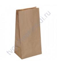 Пакет из крафт-бумаги, плотность 70 гр, 12х8х24 см