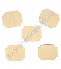 Деревянная заготовка Шильд, 3.5х4 см, 1 шт