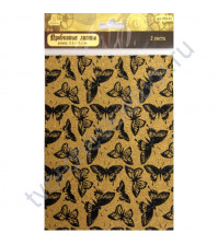 Пробковые листы с рисунком Бабочки, 17.6х15.2 см, 2 листа