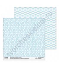 Бумага для скрапбукинга двусторонняя 30.5х30.5 см, 180 гр/м2, лист Льняная салфетка