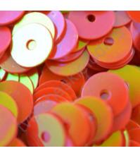 Пайетки плоские круглые с эффектом перламутр 6 мм, 10 гр, цвет 096-красный