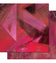 Бумага для скрапбукинга двусторонняя, коллекция Фрагменты, 30.3х30.3 см, 200 гр/м, лист 007