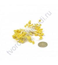 Тычинки двусторонние сахарные, пучок 80 шт, цвет желтый