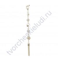 Кисточка-брелок для корешка Нежность, длина 14 см, 1 шт