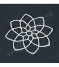 Вязаный элемент Узор, размер 6.5 см, цвет белый, 1 штука