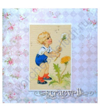 Тканевая карточка Детки-1, размер 7.5х9 см