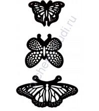 Набор ножей для вырубки Бабочки, 3 элемента
