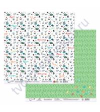 Бумага для скрапбукинга двусторонняя коллекция Синус-Косинус, 30.5х30.5 см, 190 гр/м, лист 3