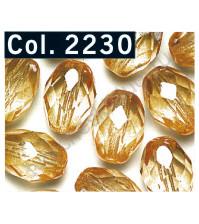 Бусины Faceted Olive, 11х8 мм, 14 шт., цвет 2230