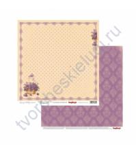Бумага для скрапбукинга двусторонняя Весенний праздник, 30.5х30.5 см 190гр/м, лист Цветочная поляна