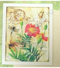Тканевая карточка Ботаника-3, размер 7.5х9 см