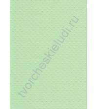 Лист бумаги для скрапбукинга с эмбоссированием (тиснением) Точки, А4, 160 гр, цвет светло-зеленый