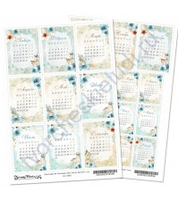 Скрап-карта А4, Календарь 2020. Этника. Детская, без клеевого слоя