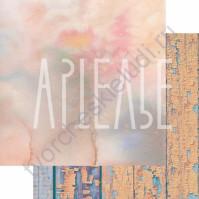 Бумага для скрапбукинга двусторонняя, коллекция ФОНОteka, 30х30 см плотность 190г/м, лист Рассветы-закаты