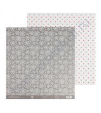Бумага для скрапбукинга двусторонняя 30.5х30.5 см, 180 гр/м2, лист Хоровод снежинок