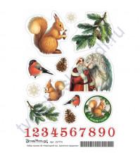 Набор декоративных наклеек Хранители праздника, коллекция Новогодний лес, размер А6