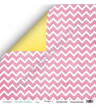 Бумага для скрапбукинга односторонняя 30.5х30.5 см, 190 гр/м, коллекция Sweet Girl, лист Пудра