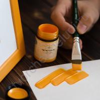 Краска акриловая перламутровая Tury Design Di-7 на водной основе, флакон 60 гр, цвет мандариновый перламутр