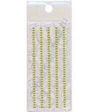 Полужемчужинки клеевые 3 мм, 175 шт, цвет св. зеленый