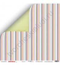 Бумага для скрапбукинга двусторонняя 30.5х30.5 см, 190 гр/м, коллекция Birthday Party, лист Сюрприз