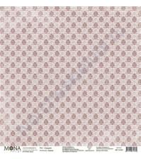 Бумага для скрапбукинга односторонняя Будуар, 30.5х30.5 см, 190 гр/м, лист Грация
