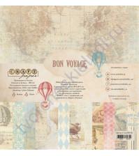 Набор бумаги Bon Voyage, 30.5х30.5 см, 190 гр/м, 12 двусторонних листов + 4 листа с карточками и элементами для вырезания