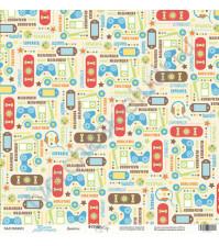 Бумага для скрапбукинга односторонняя 30.5х30.5 см, 190 гр/м, коллекция Такие мальчишки , лист Девайсы