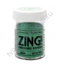 Пудра для эмбоссинга с глиттером ZING!, 28.4 гр, цвет Green Glitter (зеленые блестки)