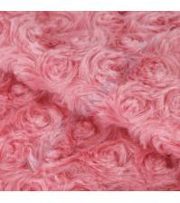 Плюш Утренний пион, плотность 300 г/м2, размер 55х50см (+/- 2см), цвет розовый