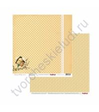 Бумага для скрапбукинга двусторонняя Весенний праздник, 30.5х30.5 см 190гр/м, лист Встреча Весны