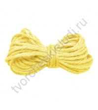 Бечевка джутовая, диаметр 2мм, цвет желтый, 1 метр