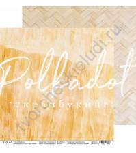 Бумага для скрапбукинга двусторонняя, коллекция Текстура, 30.5х30.5 см, 190 гр\м2, лист Жёлтый мрамор