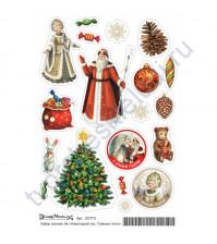 Набор декоративных наклеек Главные гости, коллекция Новогодний лес, размер А6